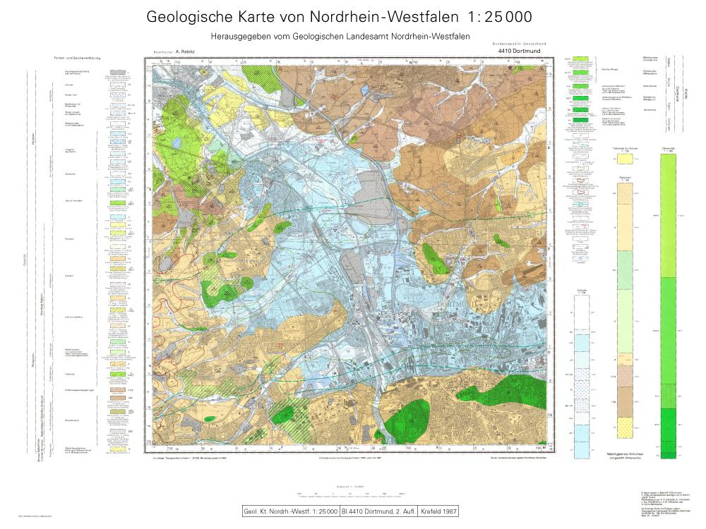 Geologische Karte Ruhrgebiet.Gd Timeline