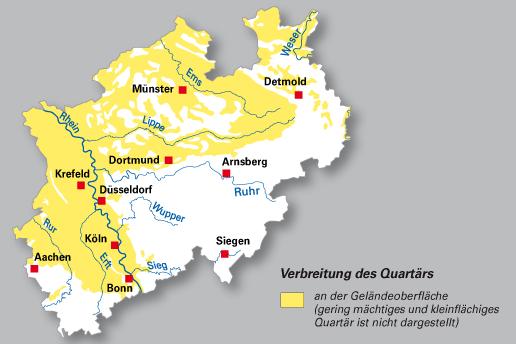 Geologische Karte Ruhrgebiet.Geologischer Dienst Nrw Geologie Die Erdgeschichte