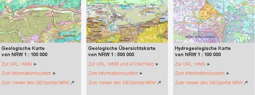 Geologische Karte Ruhrgebiet.Geologischer Dienst Nrw Onlinedienste Wms So Geht S